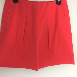 J. Crew 6 Coral cotton stretch pleated  Skirt